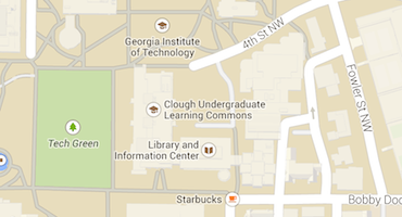 Map of Center for Academic Enrichment